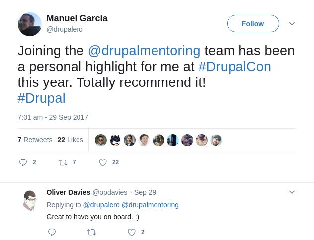 drupalero's tweet