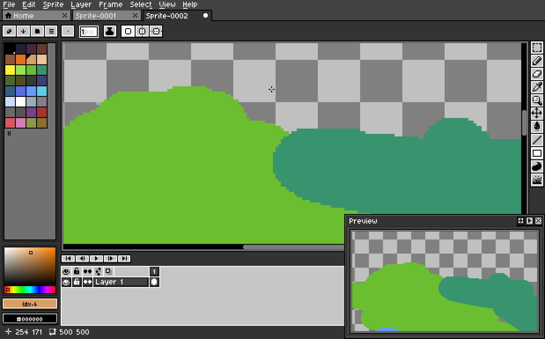 Aseprite DarkFlat Theme Screenshot 2