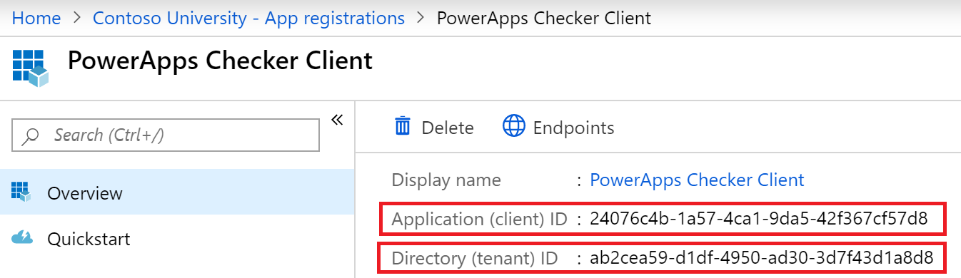 app registration overview Refactoring Pipelines and Implementing PowerApps Checker in DevOps for Dynamics 365 for Customer Engagement Solutions   DevOps Part 2