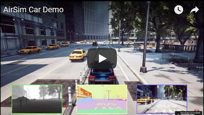 AirSim Car Demo Video