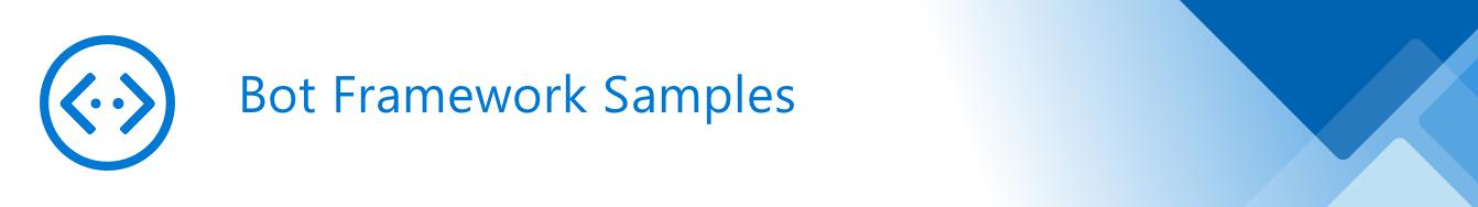 Bot Framework Samples