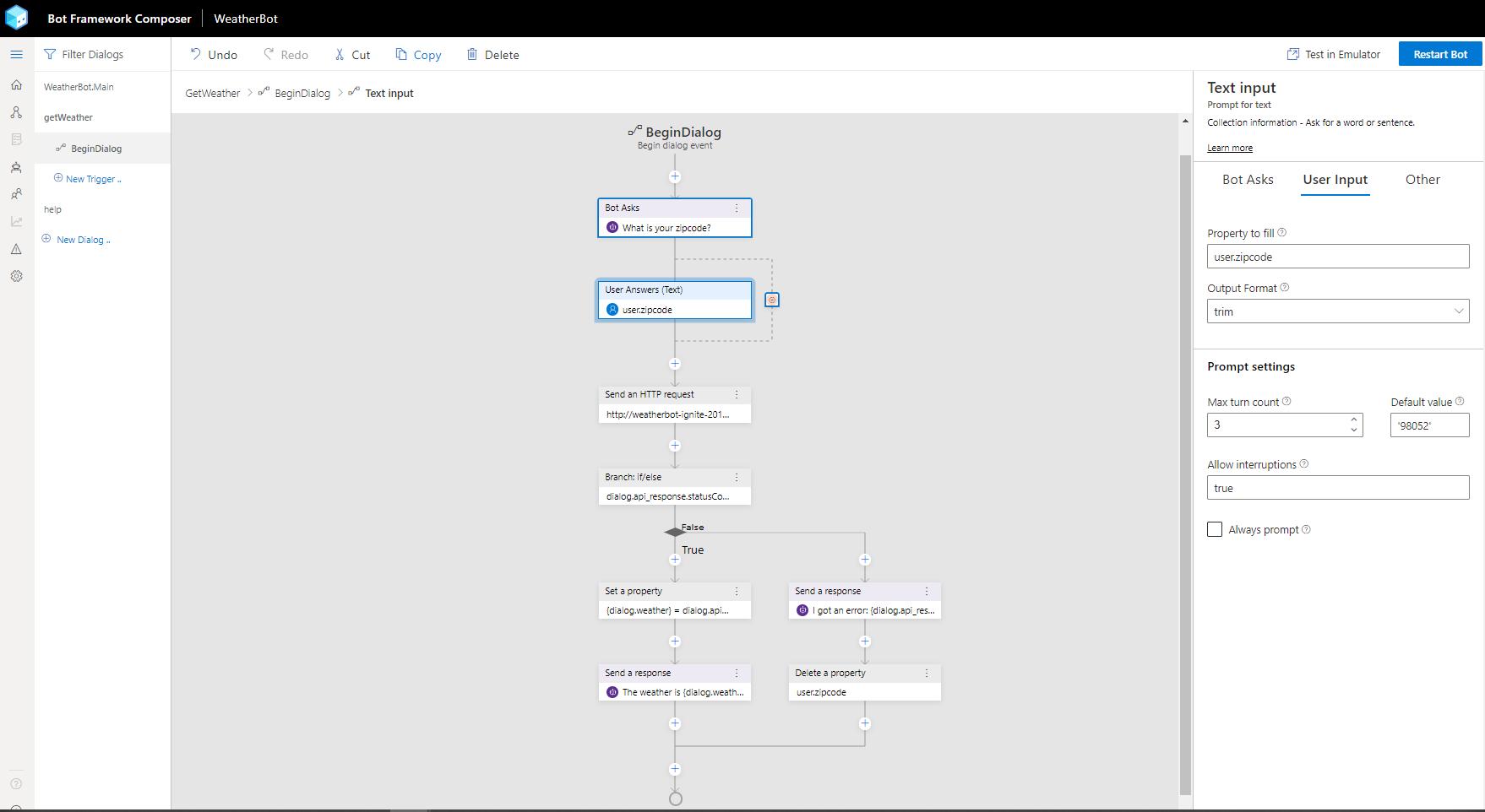 Bot Framework Composer Home Page