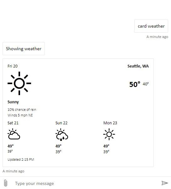 Screenshot of Web Chat