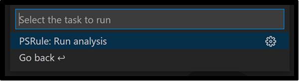 Built-in tasks shown in task list