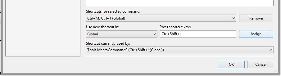 Assign Shortcut to Tools.MacroCommand#