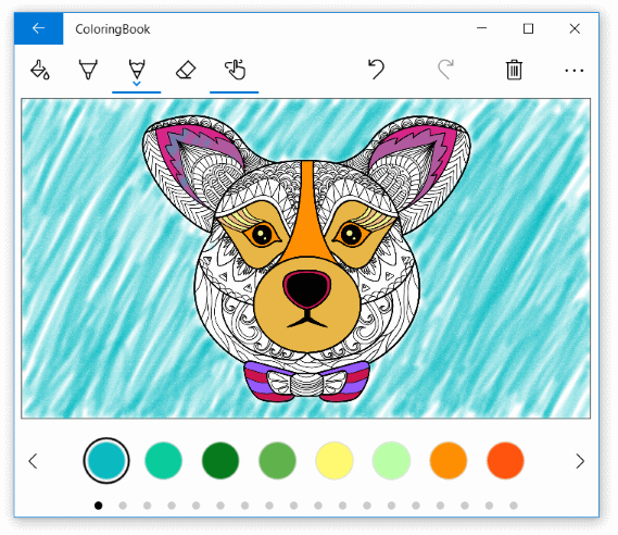 Coloring Book sample screenshot