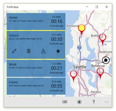 Traffic app screenshot