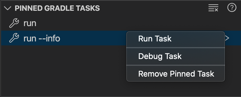 Remove a pinned Gradle Task