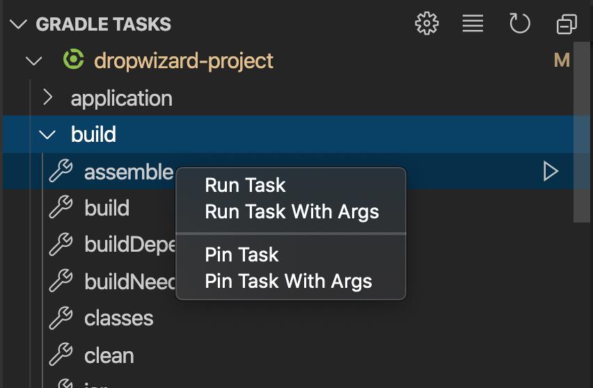 Pin a Gradle Task