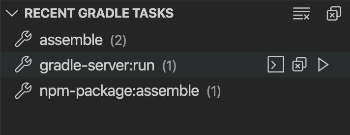 Recent Tasks