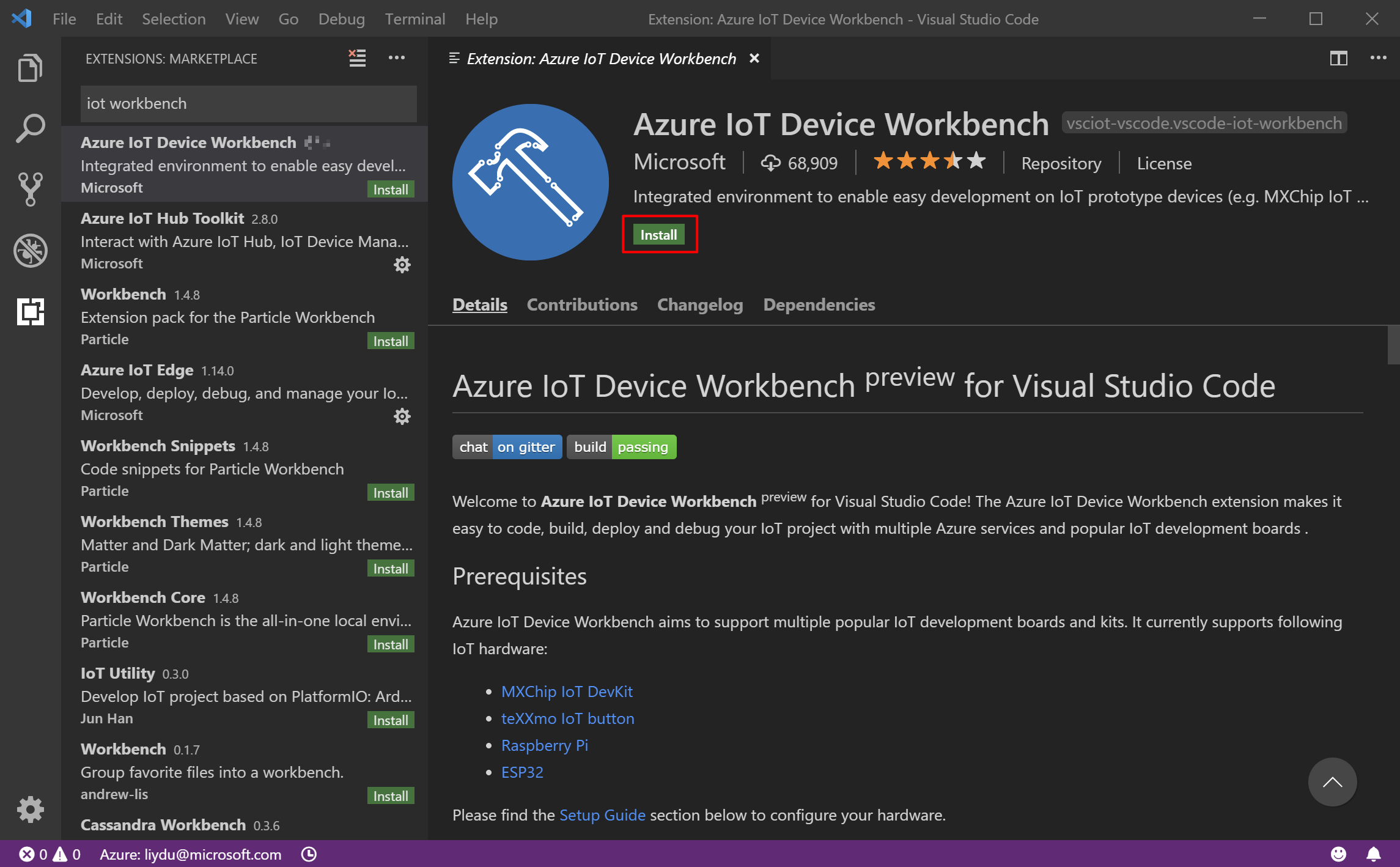Azure IoT Device Workbench - Visual Studio Marketplace