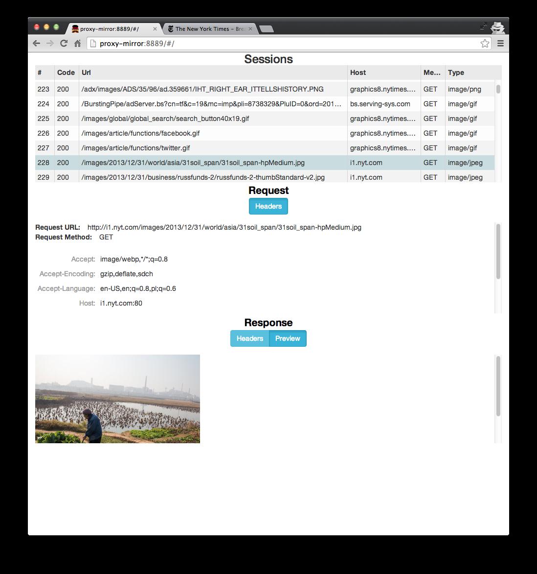 Building an HTTP sniffer with node js | Piotr Mionskowski's Blog