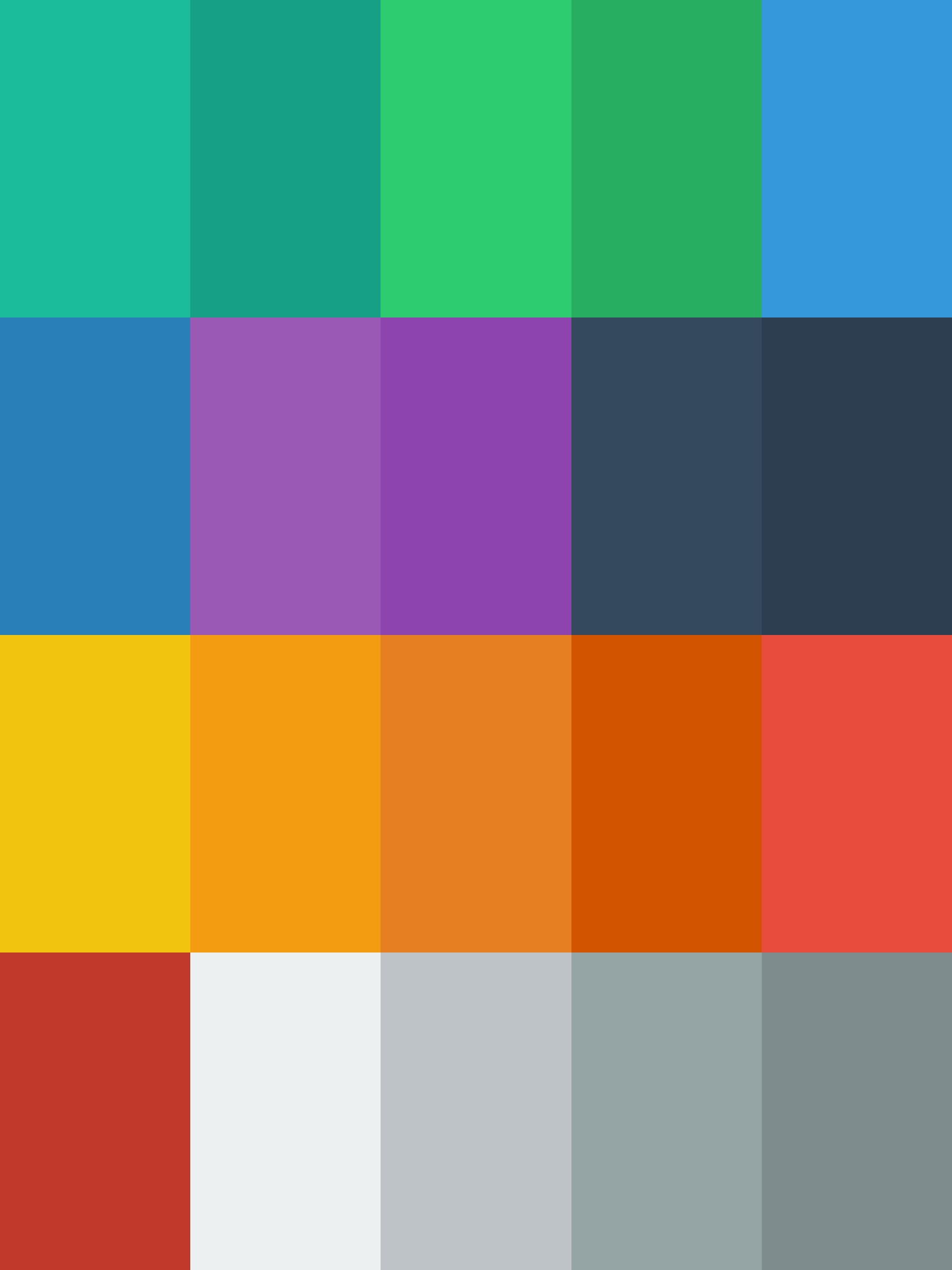 Flat design color picker