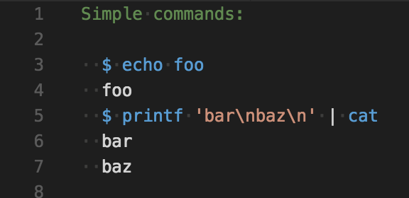 syntax highlight example