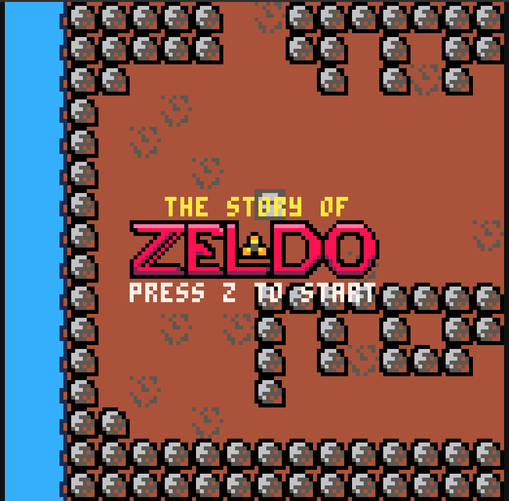 PICO-8 The Story of Zeldo Splash Screen