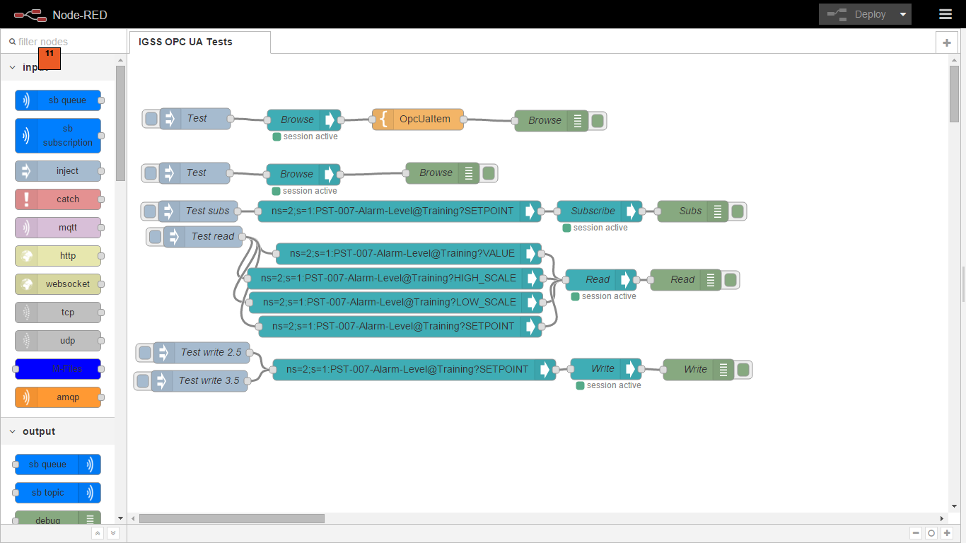 Node Red Contrib Opcua Mitsubishi Alarm Wiring Diagram Flow