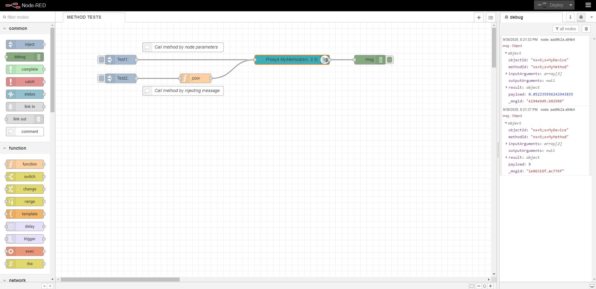 New method node example