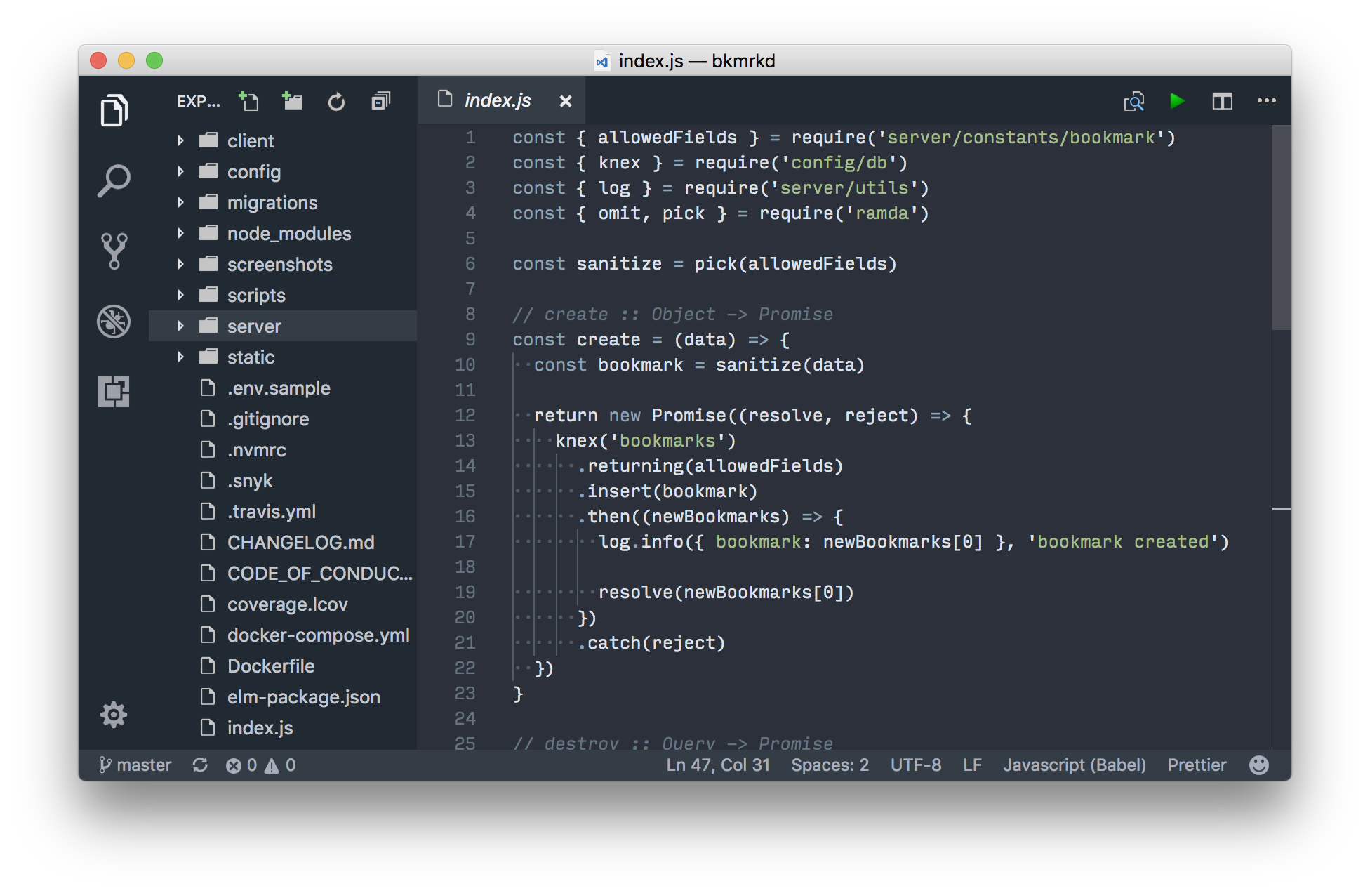 screenshot of how it looks in VSCode