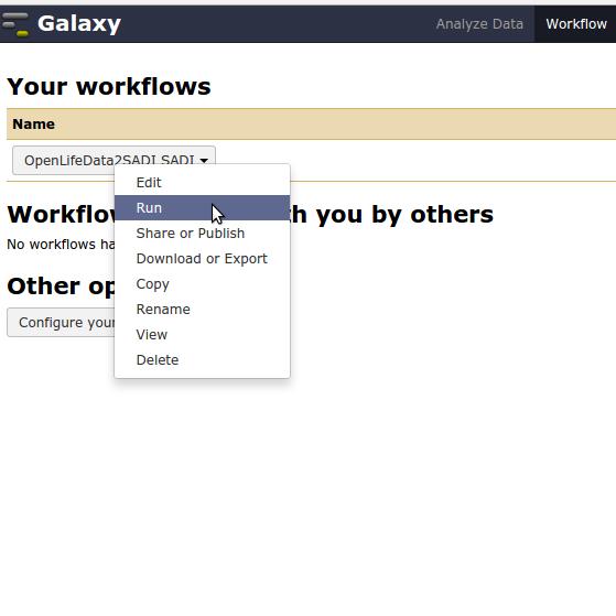 Galaxy workflow