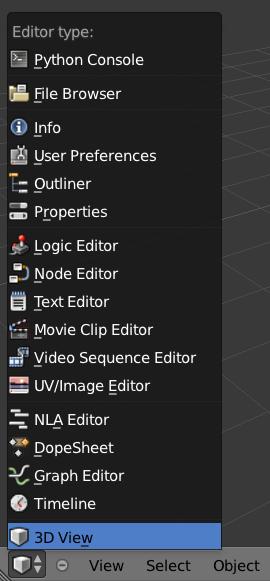 Editor selection.