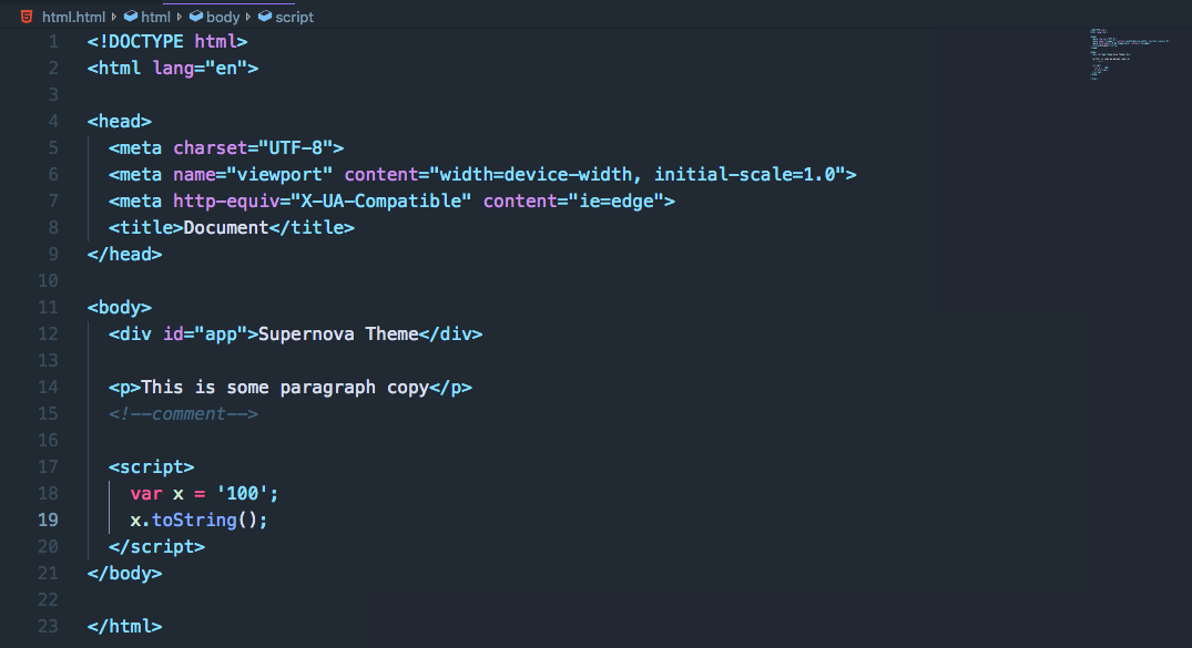 HTML preview