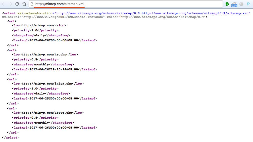 sitemap.xml 示例