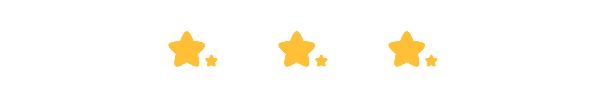 三个星星水平对齐居中排列