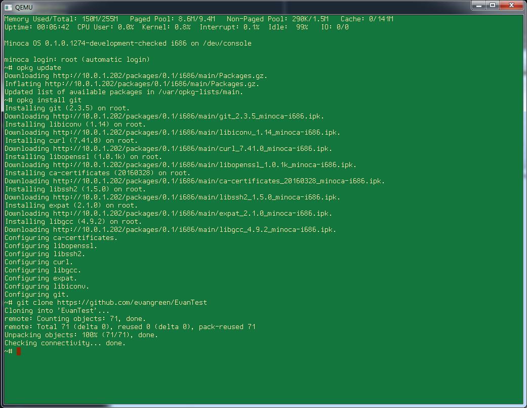 Installing Git on Minoca OS