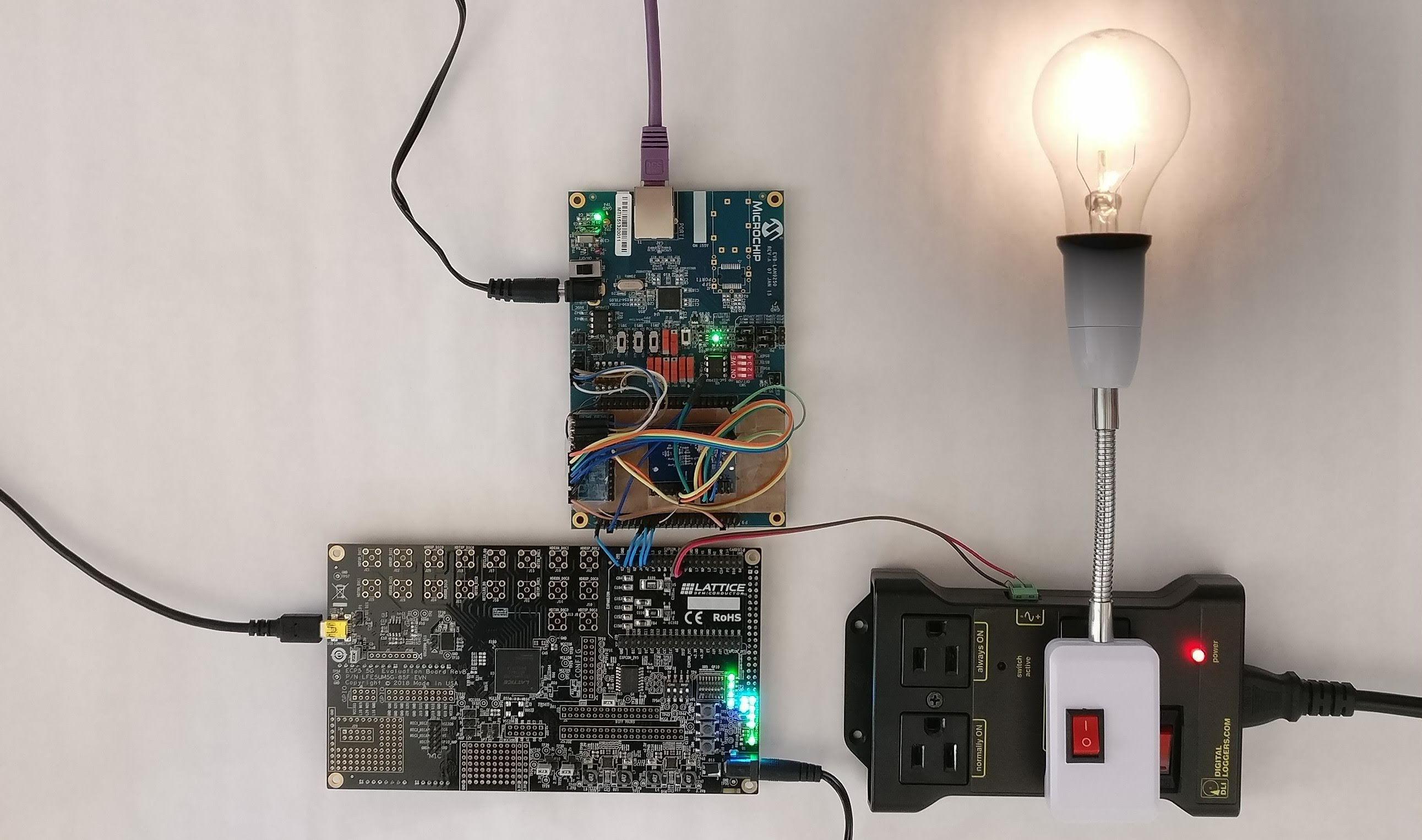 IoT lightbulb demo