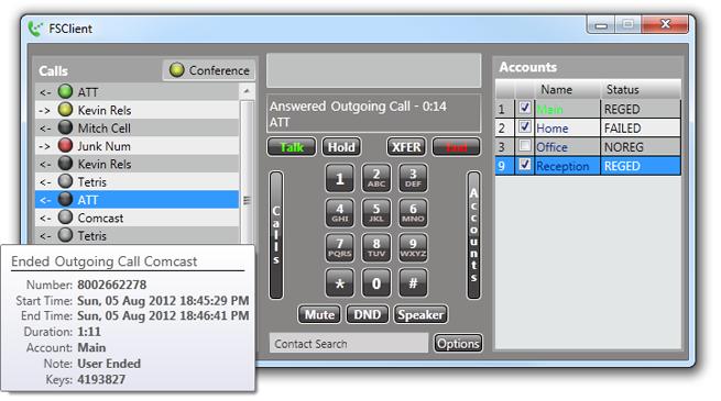 GitHub - mitchcapper/FSClient: FSClient is a full Windows softphone