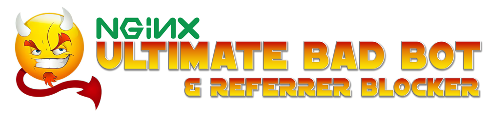 Nginx Ultimate Bad Bot Spam Referrer Blocker - Nginx Block Bad Bots, Vulnerability Scanners, Malware and Adware, Malicious Sites, Spam Referrers, Bad Referrers, Spam Blocker with DDOS, Wordpress Theme Detector Blocking and Fail2Ban Jail for Repeat Offenders
