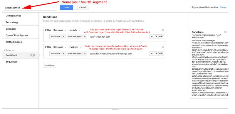 Google Analytics - Adding Segments to Stop Ghost Spam