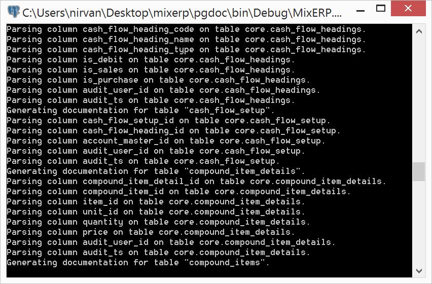 PgDoc Screenshot