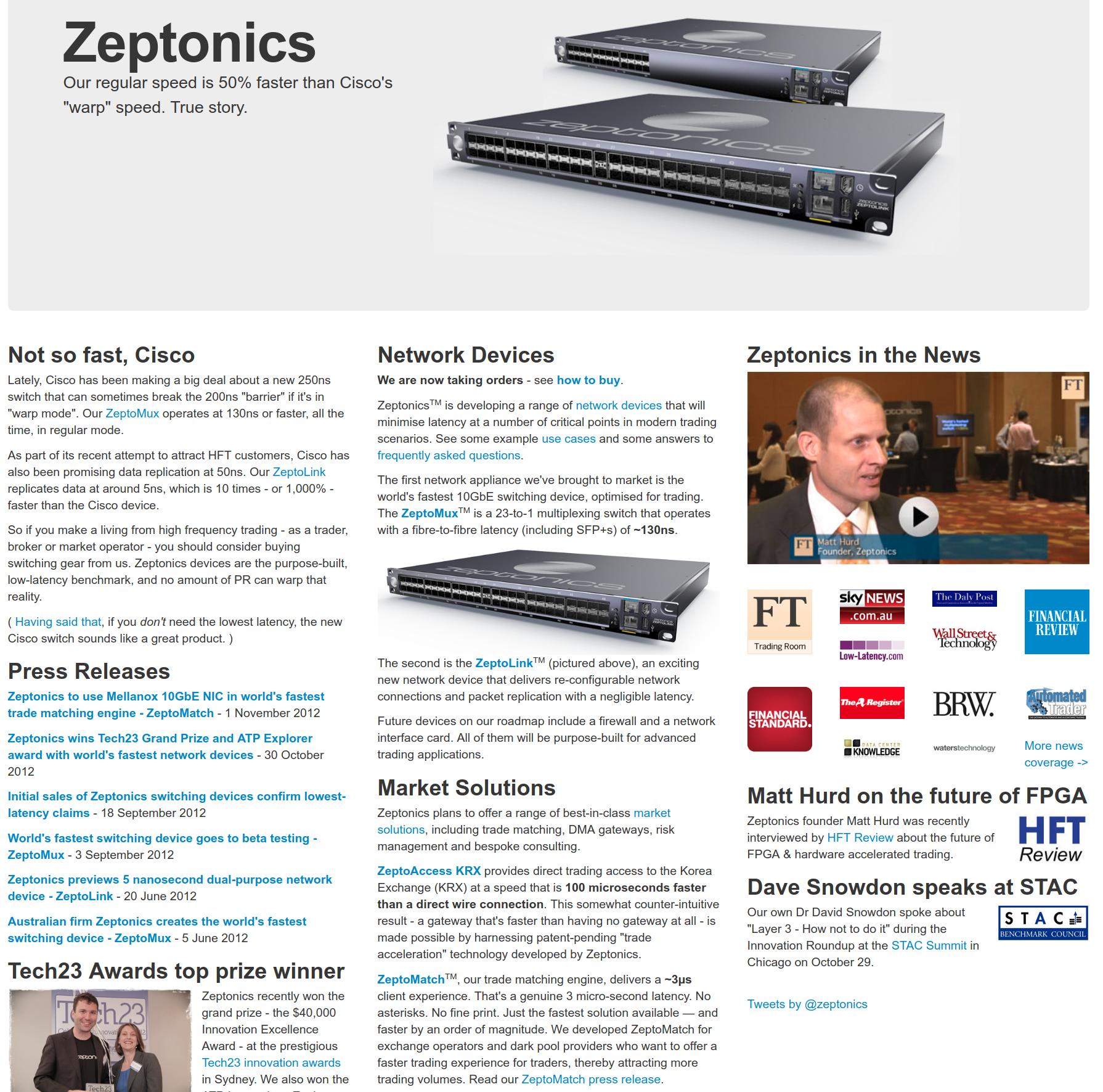 Zeptonics Wayback 2010