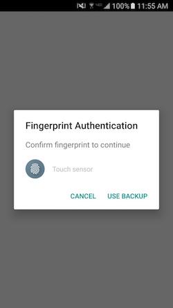 Fingerprint Auth Dialog