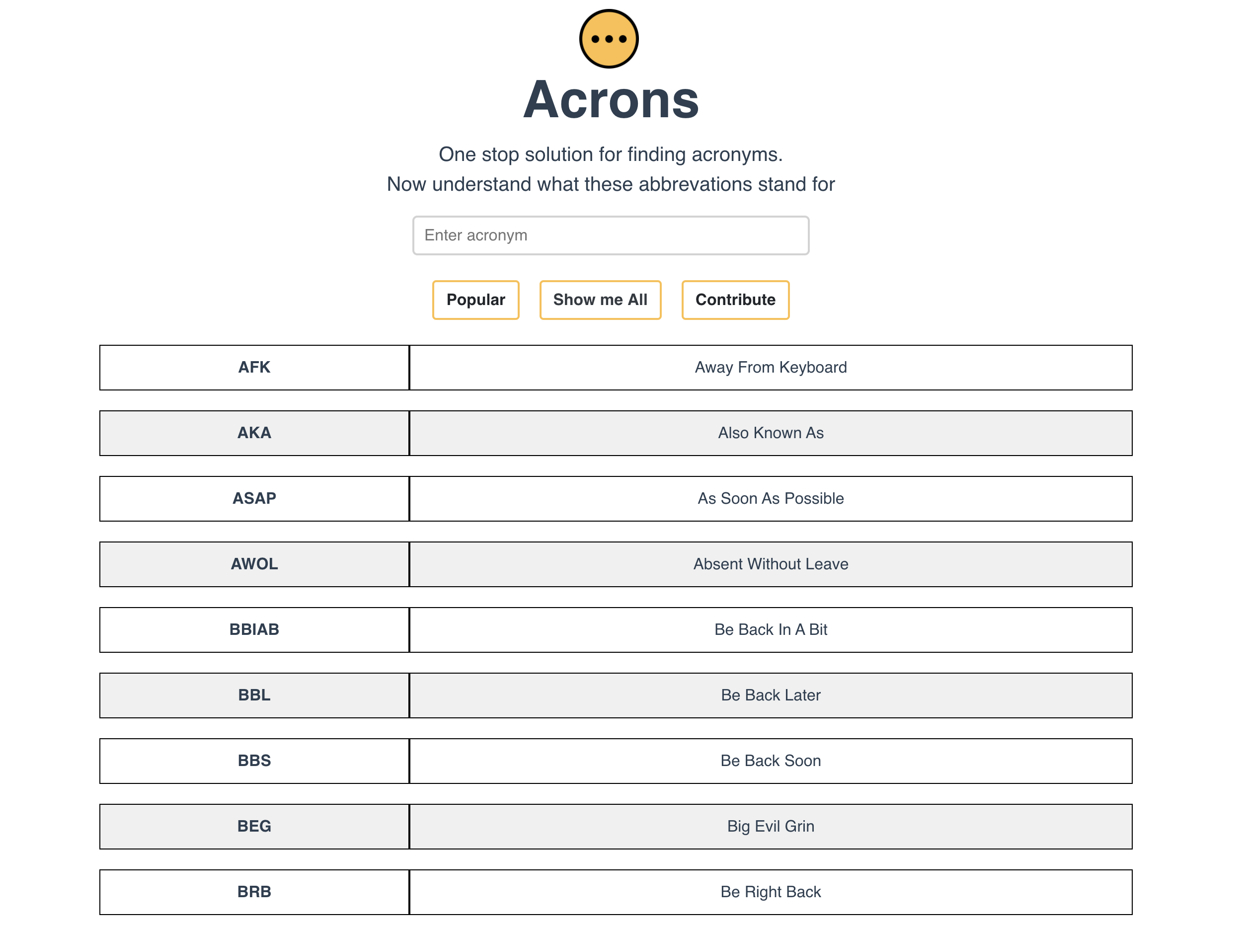 Acrons