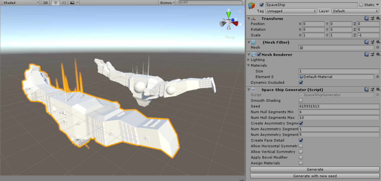 Unity Spaceship Generator - UnityList