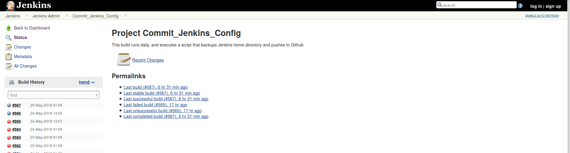Jenkins Config Build