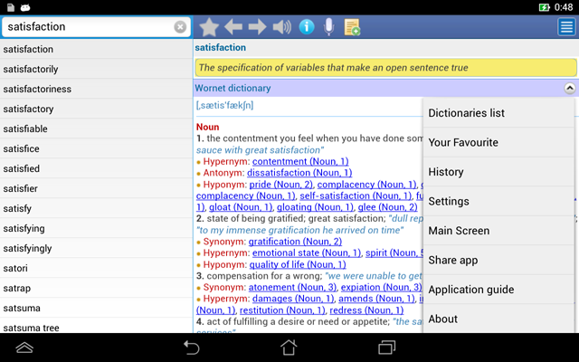 http://mobilesoftvn.net - EDictPro - English Dictionary - All in one - User interface