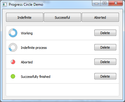 GitHub - mofr/QtProgressCircle: ProgressCircle - circular