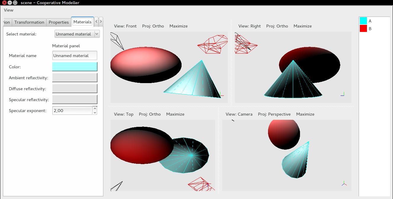 Captura de pantalla de COMO - Modelador 3D colaborativo
