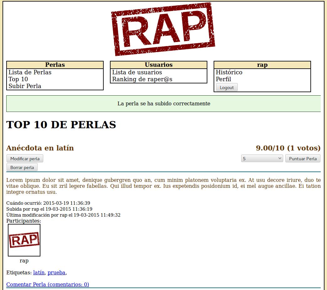 RAP – Real Academia de las Perlas