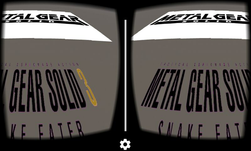 Project screenshot of a 3D scene viewed though Google Cardboard
