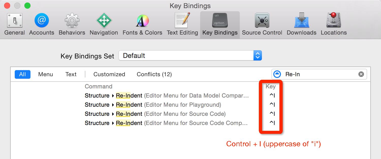 re-intent shortcut key setting