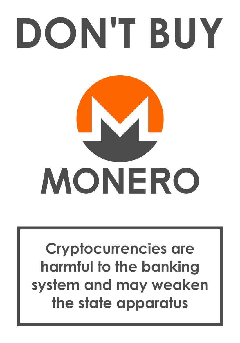 Dont buy monero sticker