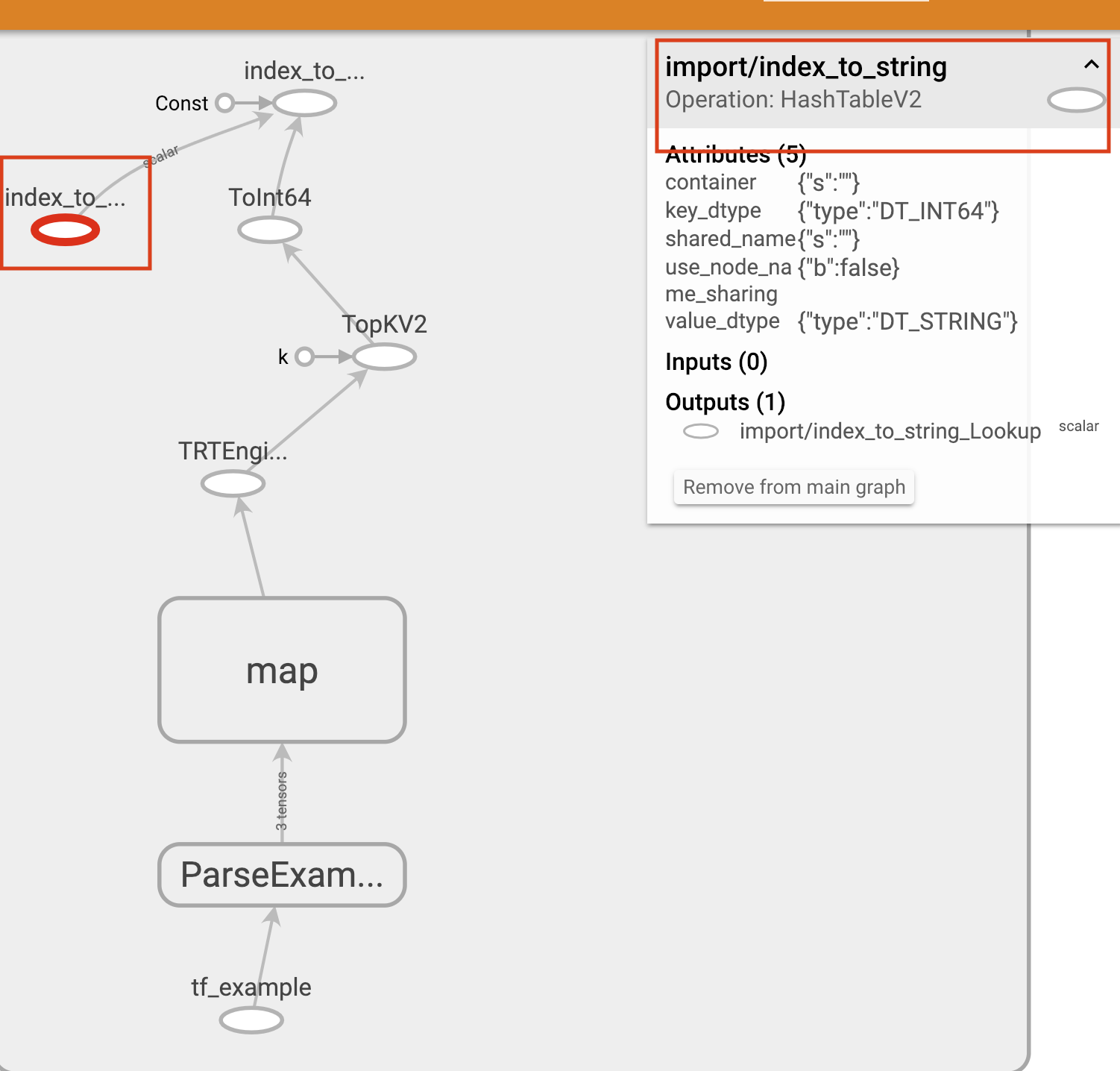 saved_model_cli tensorrt convert bug: saved_model_main_op collection