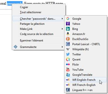 Context Search dans Firefox