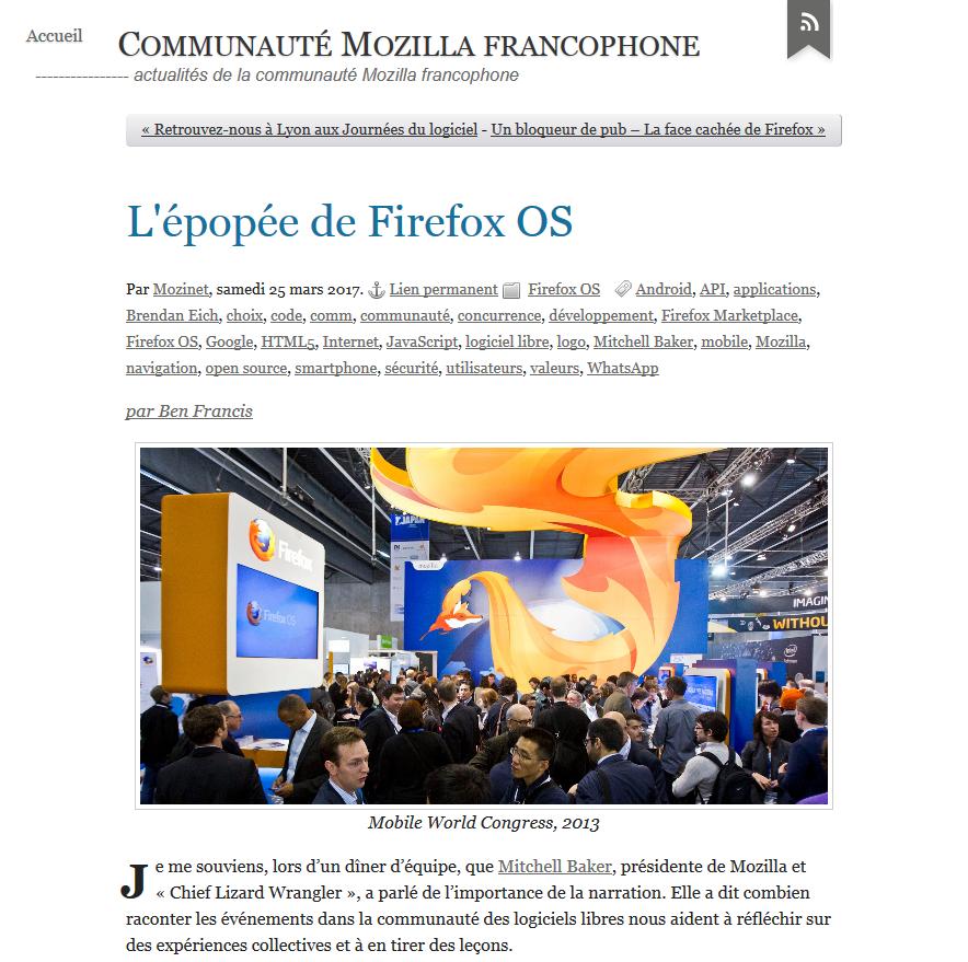 Mozilla fr : traduction avec seulement l'ajout du nom de l'auteur