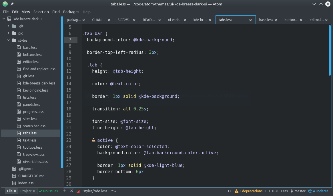 Picture of Atom-Editor windot