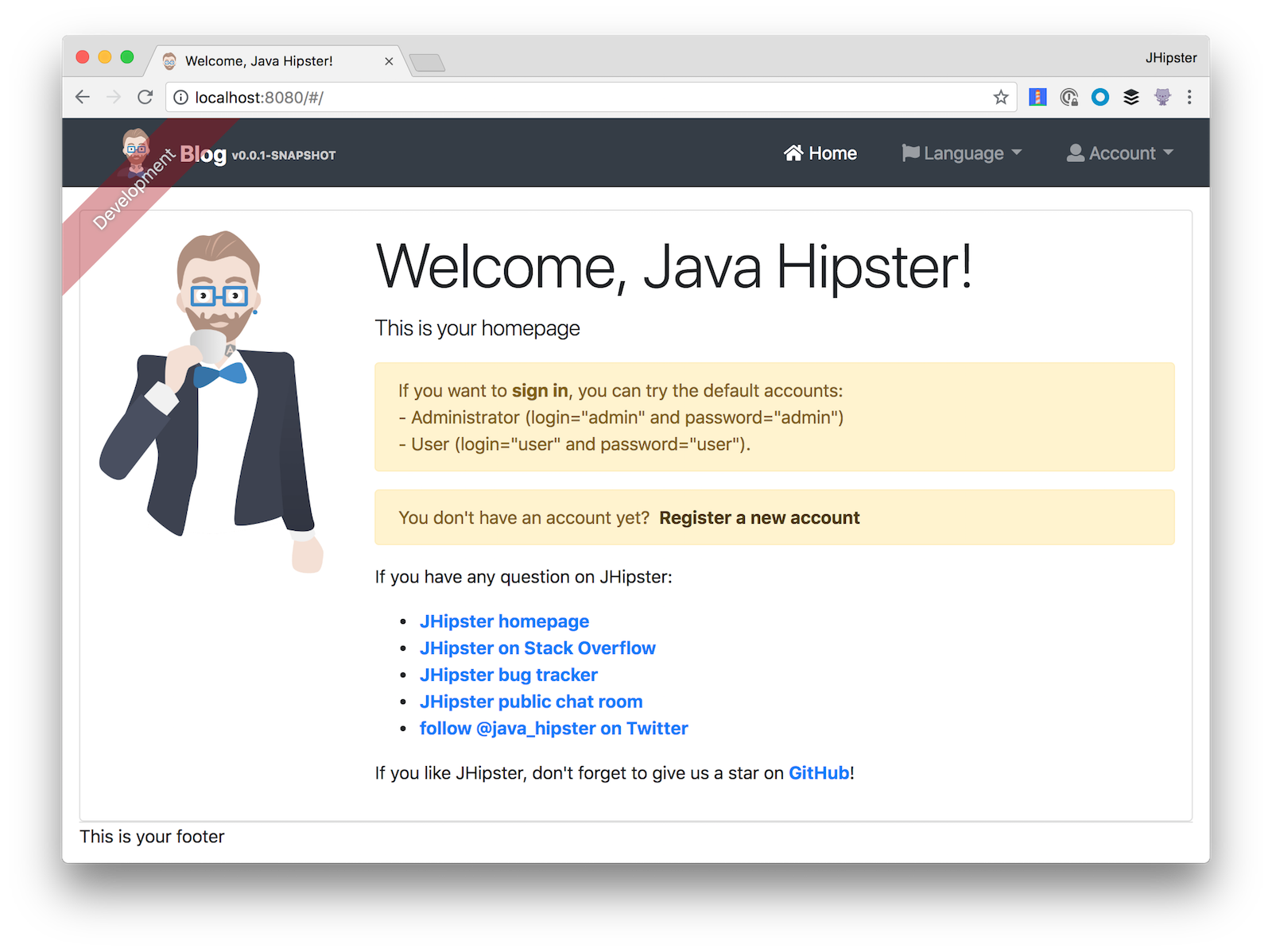 Get Started with JHipster 5